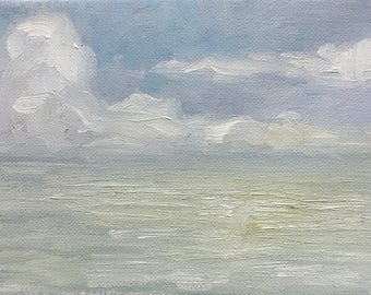 Cloudy calm | Oil painting | 5 x 7
