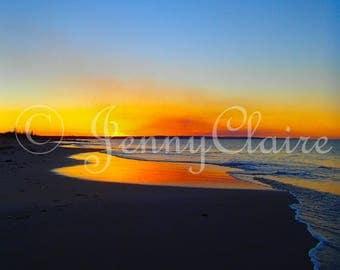 Beach sunset digital download. sunset photo. Australian sunset