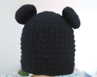 Crocheted Bear Hat (Children and Adults)