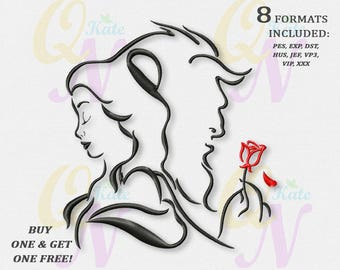 BOGO FREE! Beauty and the Beast Embroidery Designs, Disney princesses Machine Embroidery Designs, Belle Machine embroidery designs, #084