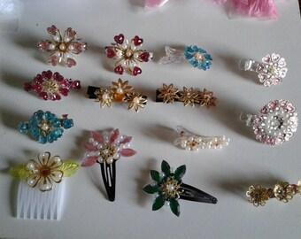 Hair clips, hair combs, hair accessories, hair jewelry, 650 pieces