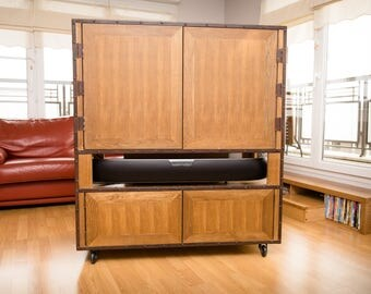 TV bookcase double-sided / industrial style