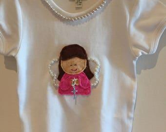 Angel bodysuit, Angel, Handmade, Felt, Baptism, Babyshower, Birthday, Gift