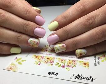 Personal Nail Sliders for nails. Decoupage paper. Decoration nails. Nail Stickers @lika.nails.slider