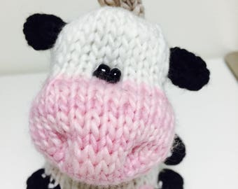 Knitted Simply Cute Amigurumi Cow