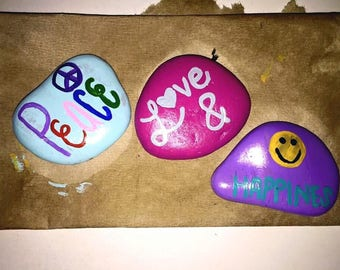Peace, Love & Happiness Rock