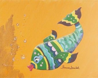 Whimsical Fish Original painting