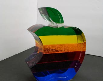 Vibrantly Colored Apple Logo