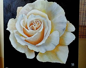 Rose - acrylic painting