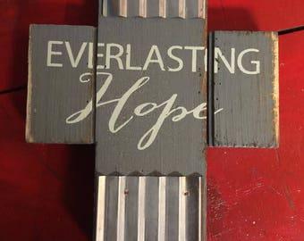 Everlasting hope table top cross