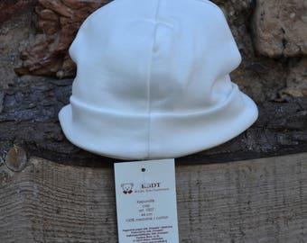 100% Natural Cotton Cap/Beanie 44 cm.