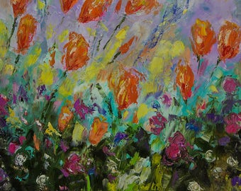 Orange Tulips - Print