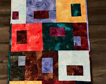 Colorful Table Runner Quilt