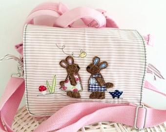 Kindergarten backpack Bunny friends