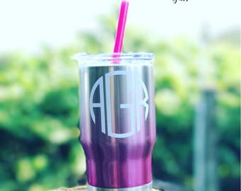 Kids stainless tumbler with monogram