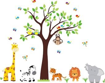 Safari Nursery Decal Etsy - Nursery wall decals gender neutral