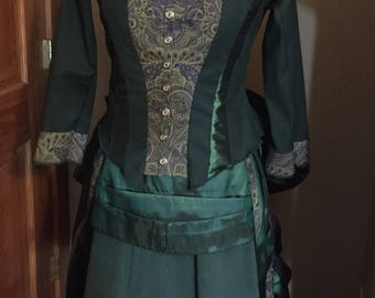 Victorian Bustle Gown Ensemble
