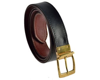 Double Sided Handmade Leather Belt