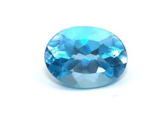 Swiss Blue Topaz AAA Natural Gemstone Oval Cut 12ct 16x12mm