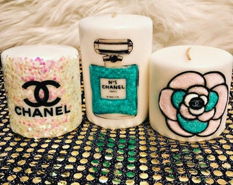 Inspired perfume candle set