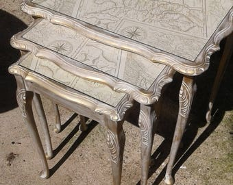 Stunning upcycled nest of tables