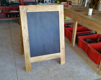 Giant rustic recycled timber chalboard