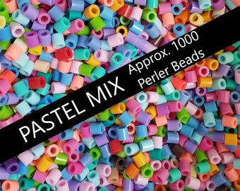 1000 Perler Beads, Pastel Perler Beads, Perler Bead Art, Bead Supplies, Bulk Perler Beads, Perler Bead Lot, Pastel Mix Color, Melting Beads