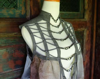 Grey Mist Harness Blouse