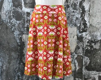 Size 5,8,10,12--Organic Knit Skirt in Lotus Flower