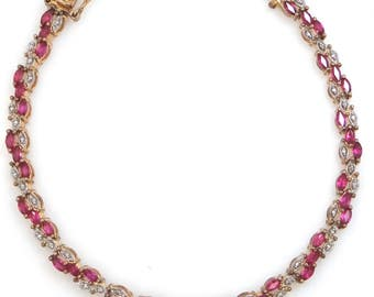 Sterling Vermeil and Rubies Bracelet