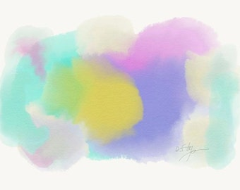 Softness - abstract art printed on watercolor paper - original contemporary art