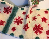 Hand Dyed Double Stranded Sock Blank, Joy, Sock Blank, Christmas Sock Blank, Double Stranded