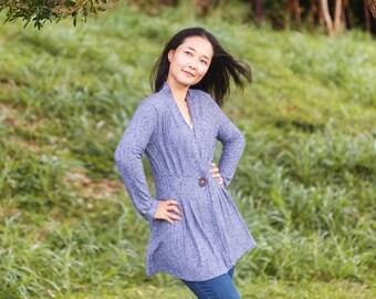 PDF Sewing Patterns for Women | Sweater Sewing Pattern | Long Sleeve PDF Pattern | Cardigan PDF Sewing Pattern | Digital Sewing Pattern