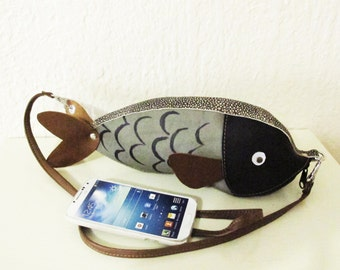 Leather Fish Purse