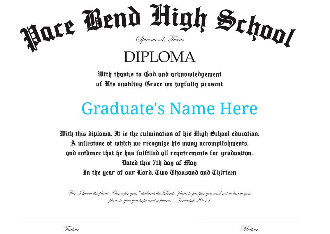 It is an image of Resource Printable High School Diploma