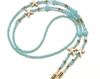 Eyeglass Chain Starfish Coastal Beaded