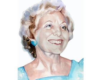 5x7 inch Custom Watercolor Portrait