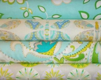 Kumari Garden by  Dena Designs / 4 Half Yard Bundle -  Cotton Quilting Fabric / DISCONTINUED !