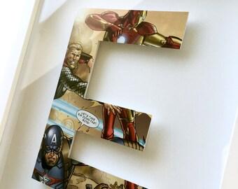 1 letter - CUSTOM superhero alphabet letter