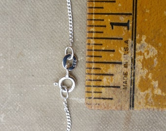 Sterling Silver 1.2mm Curb Chain With Sterling Silver Spring Clasp, Silver Chain