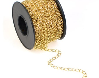 Gold Plated Curb Chain SPOOL, 4.2mm