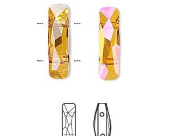 Stunning Astral Pink Swarovski Faceted Column Crystal Passions Focal Pendant 5535 19x5mm 1pc