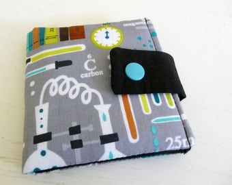 Science Class Wallet, Nerdy Card Case, Geeky Store Card Wallet