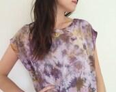 Hand Dyed Tank Dress in Super Bloom, Purple, Ocher , Anna Joyce, Portland, OR