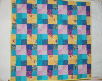 Happy colorful quilt