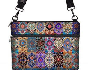 "Boho Chic 13 inch Laptop Bag 13.3"" MacBook Bag Laptop Tote Bag Computer Bag Padded Laptop Sleeve w/ Strap Colorful Bohemian Kilim Fabric RTS"