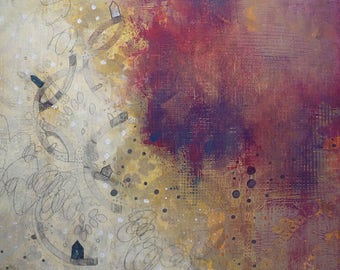 Acrylic Painting, Mixed Media Abstract Painting, Original Wall Art for the Bedroom