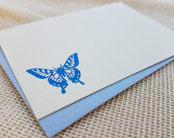 Letterpress Enclosure Card - Butterfly, Small