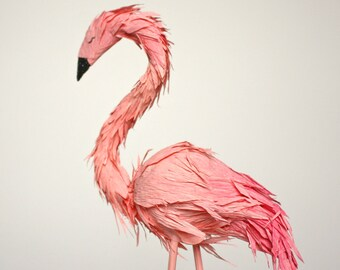 flamingo cake topper - single