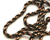 Vintage Copper Black Enamel Chain, Unisex Chain, Fancy Rope Chain, Pendant Layering Chain, Boho Hippie Hipster Chain, Jewelry Chain